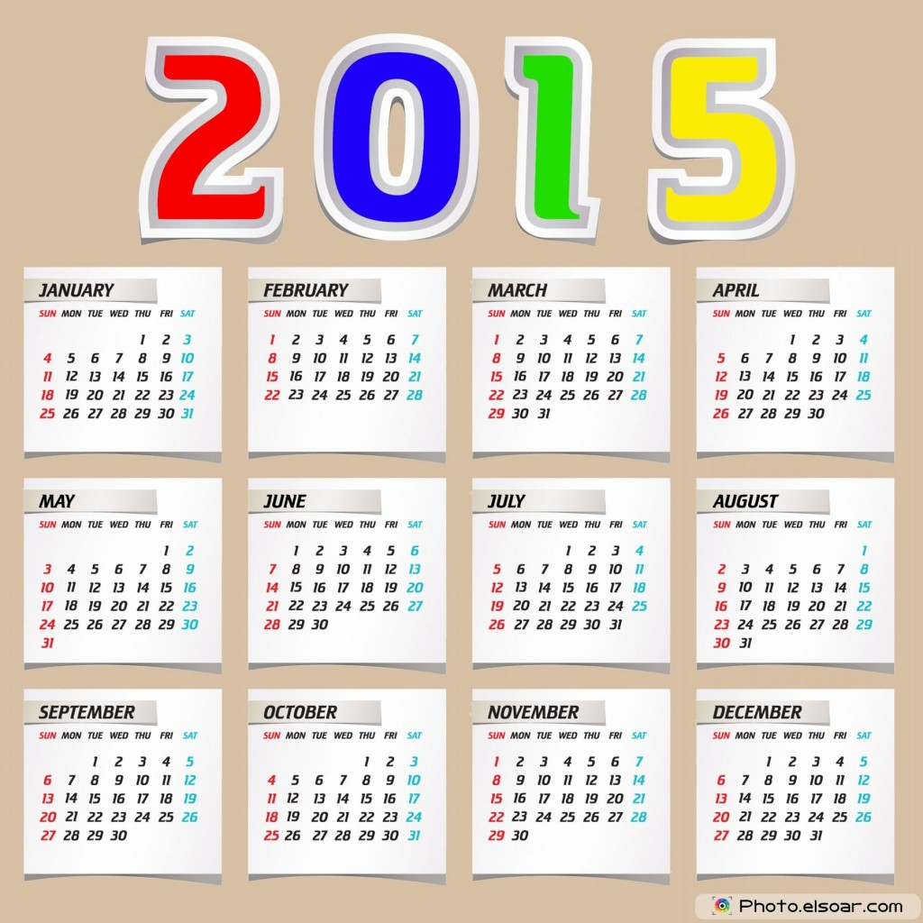 2015 Calendar Abstract Design