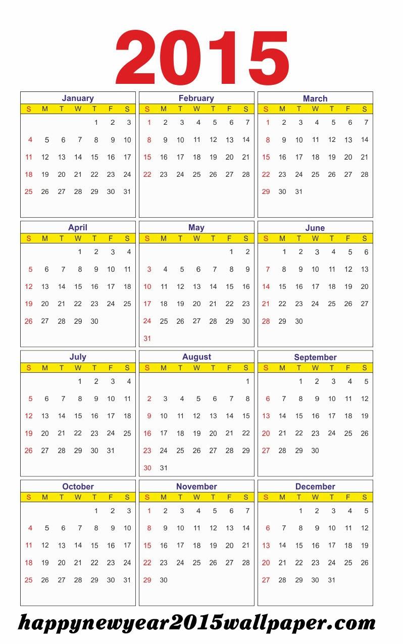 Ethiopian Calendar 2015 Printable 2015 calendar