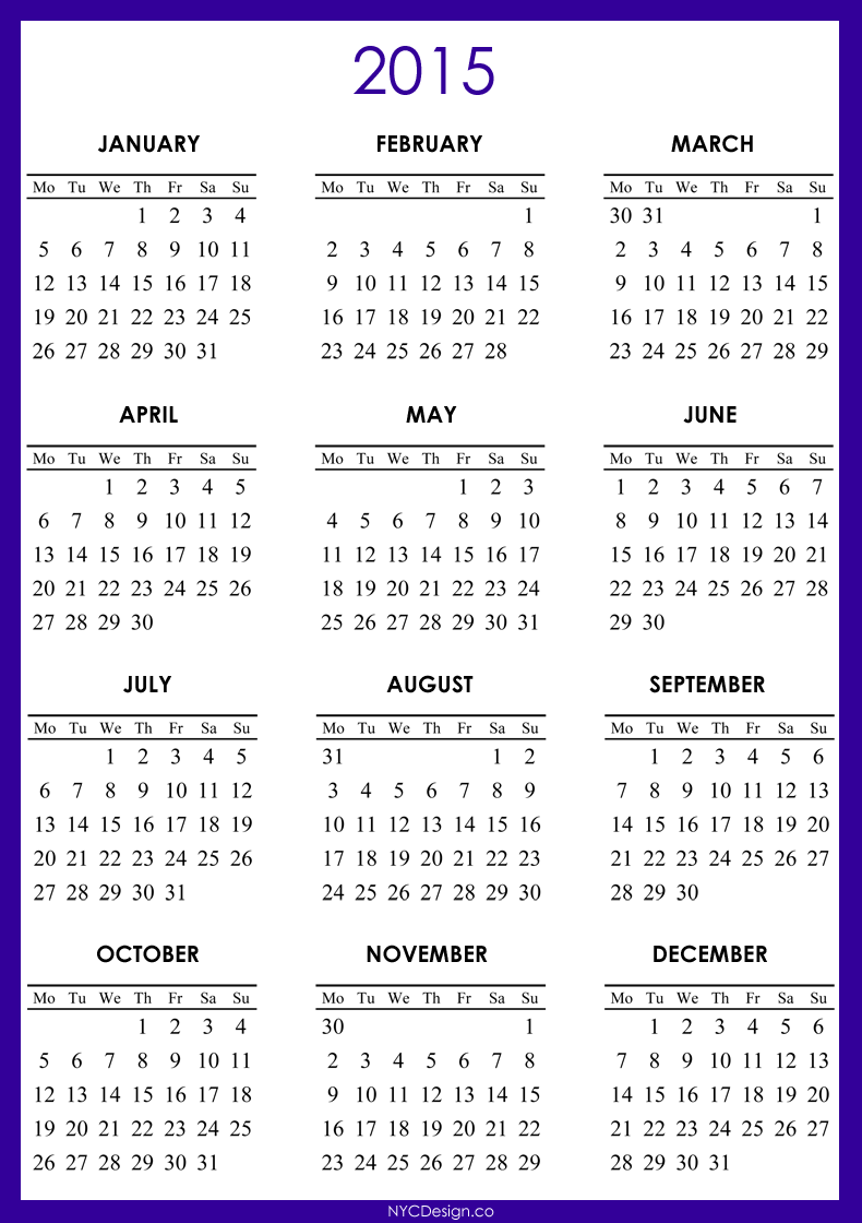 Year Calendar On Page : Printable calendar pictures images