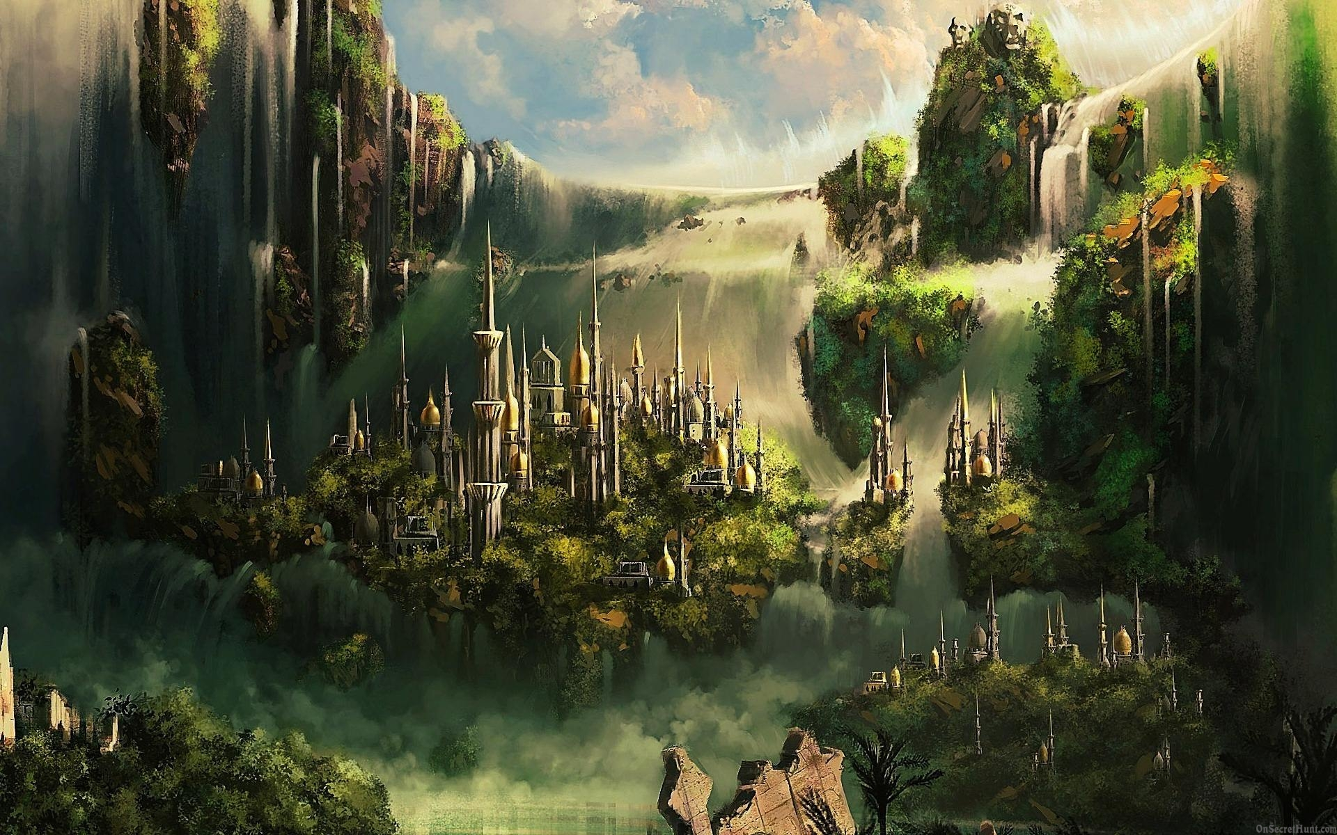 Stunning Hd Fantasy Wallpapers: Fantasy City Wallpapers, Pictures, Images