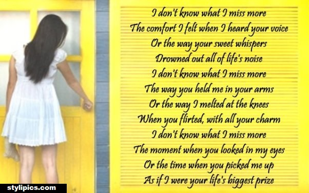 Missing You Poem