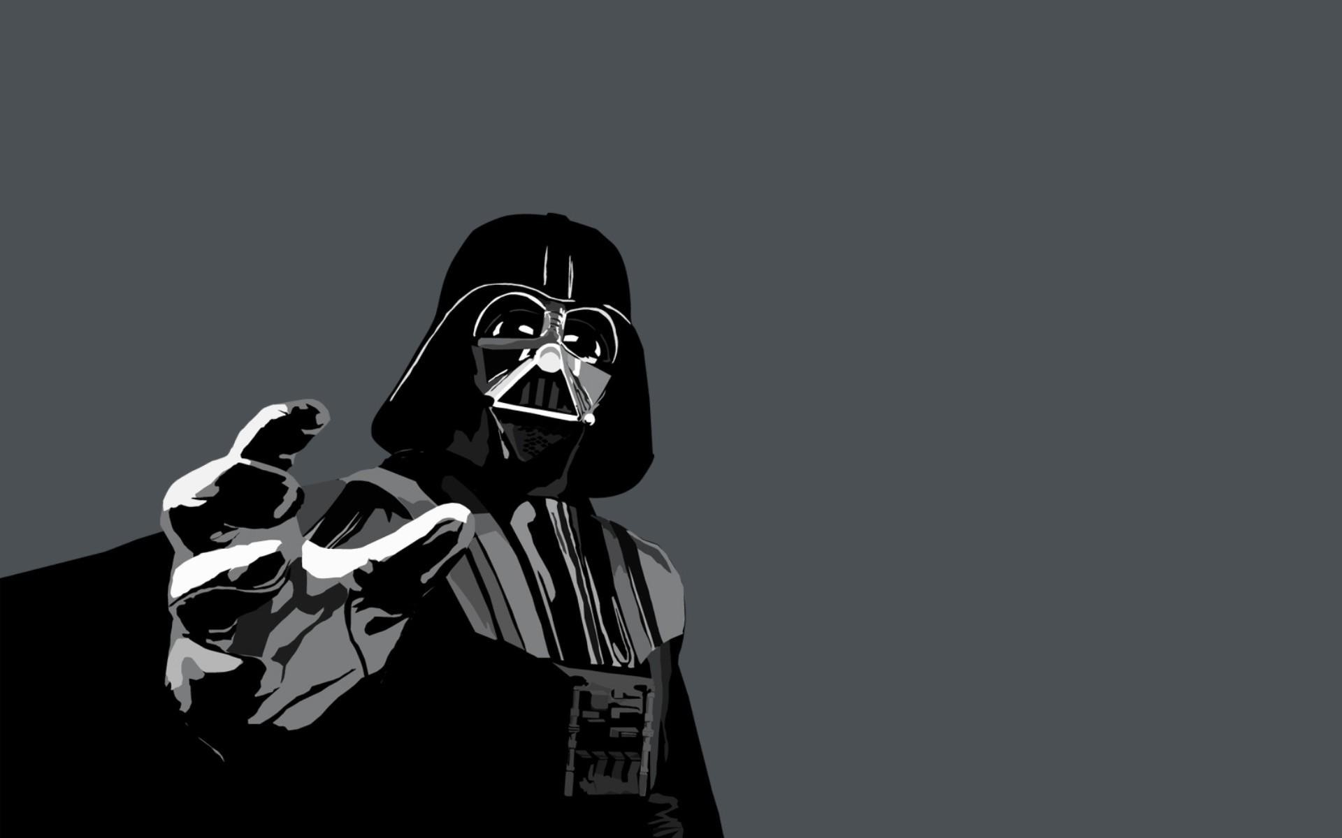 Darth vader wallpapers pictures images for Darth vader black and white