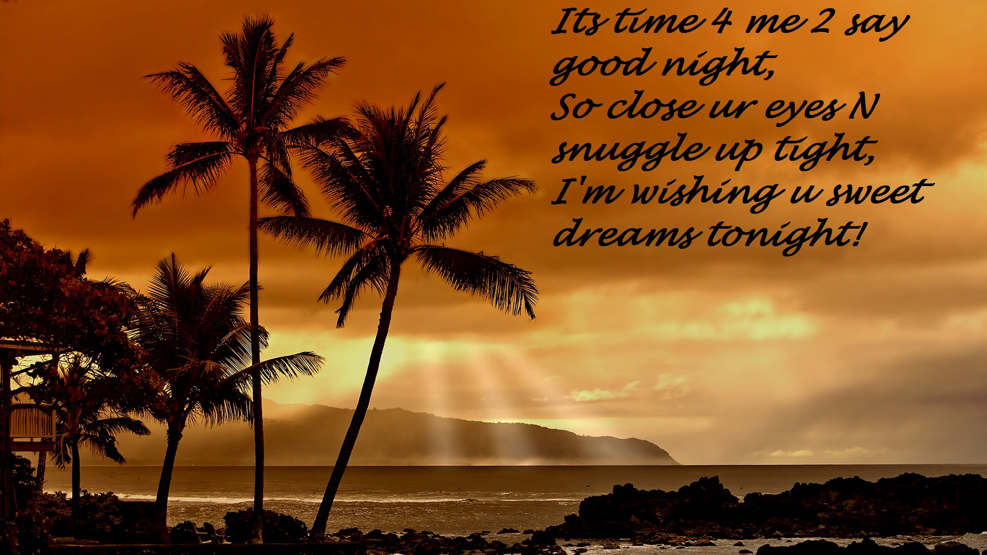 Good night quote wallpapers pictures images - Good night nature pic ...