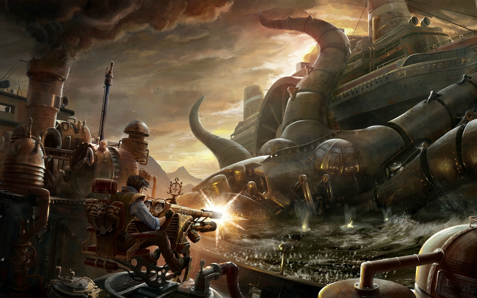 Free Sci Fi Fantasy Desktop Wallpaper: Steampunk Wallpapers, Pictures, Images