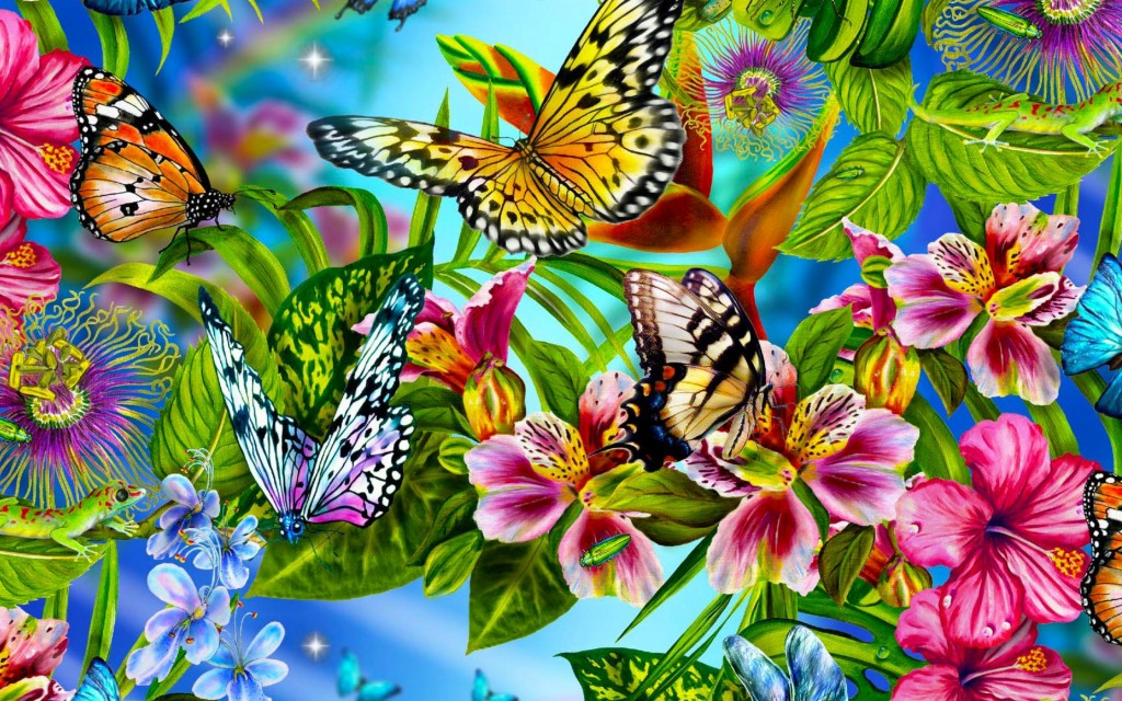 Beautiful Butterflies Wallpaper
