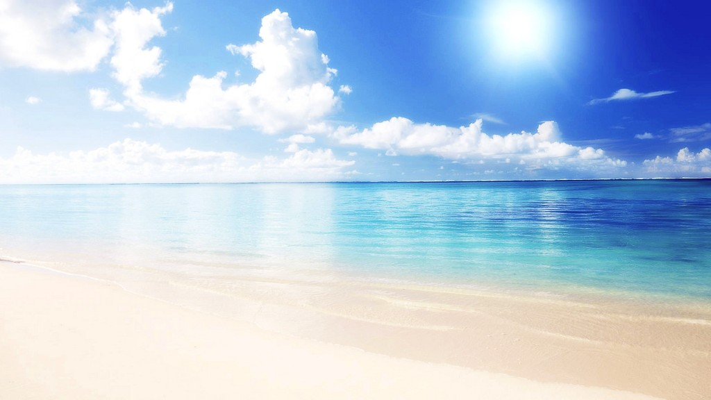 White Beach HD Desktop Background