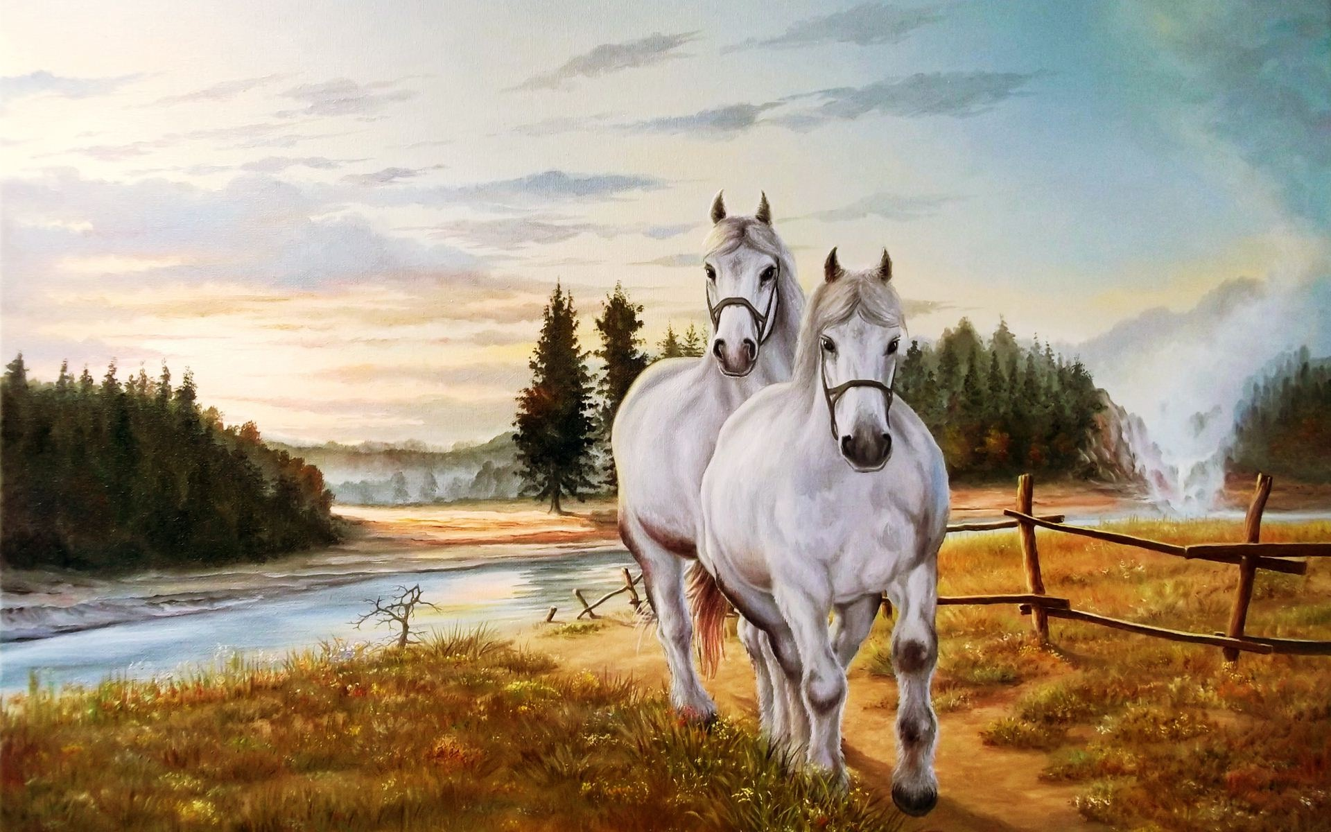 Horse Painting Wallpapers Pictures Images