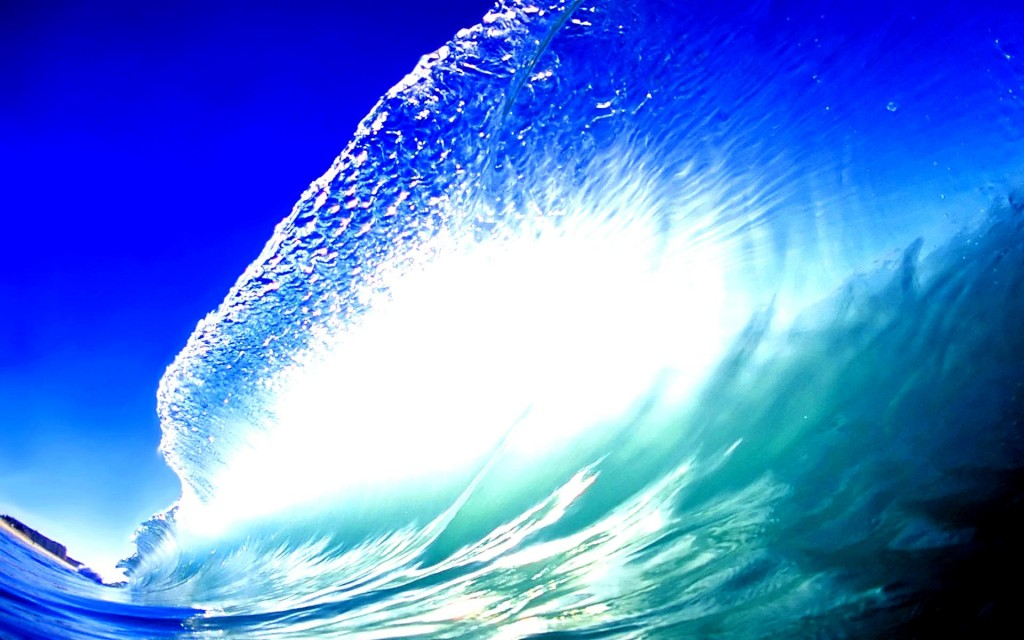 Blue Wave Wallpaper