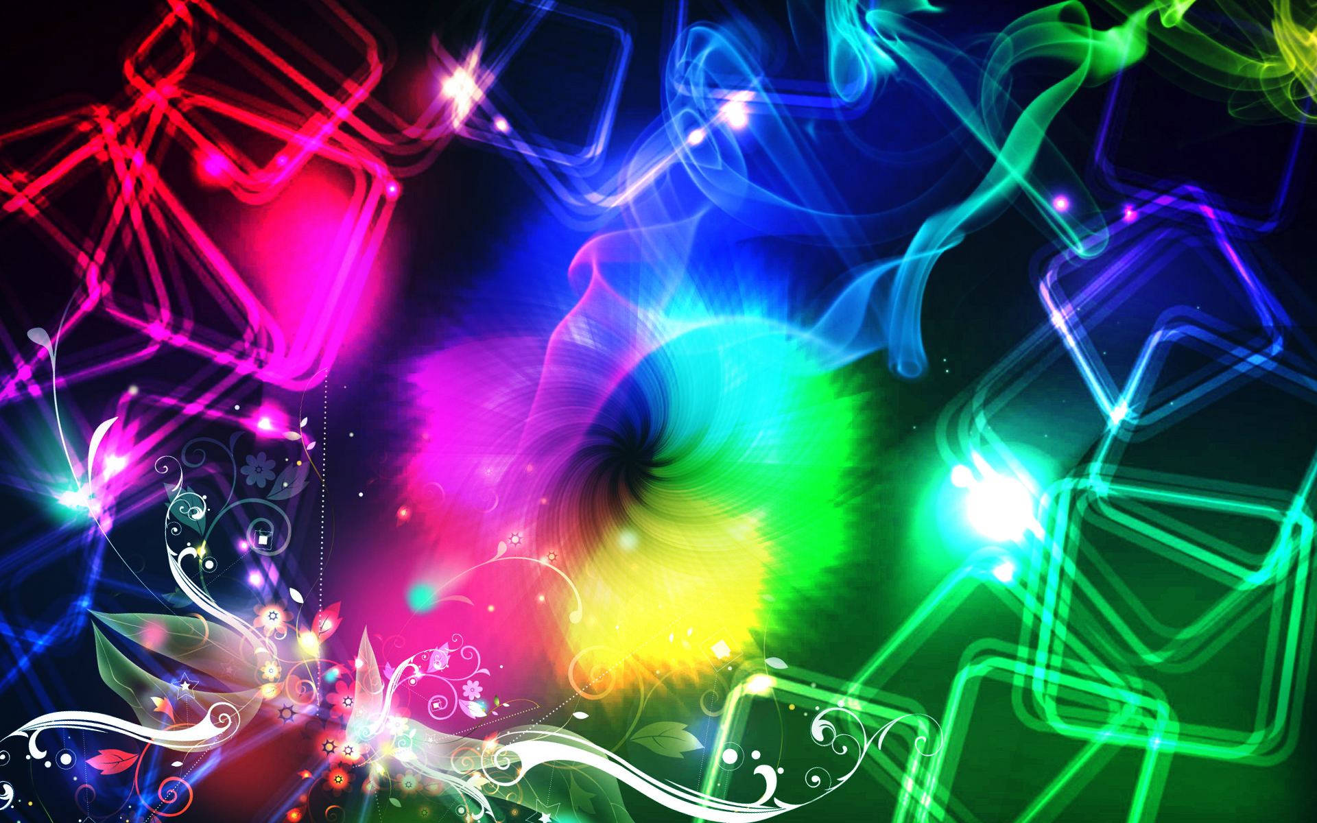 Rainbow Music Notes Background Hd Wallpaper Background Images: Colorful Wallpapers, Pictures, Images