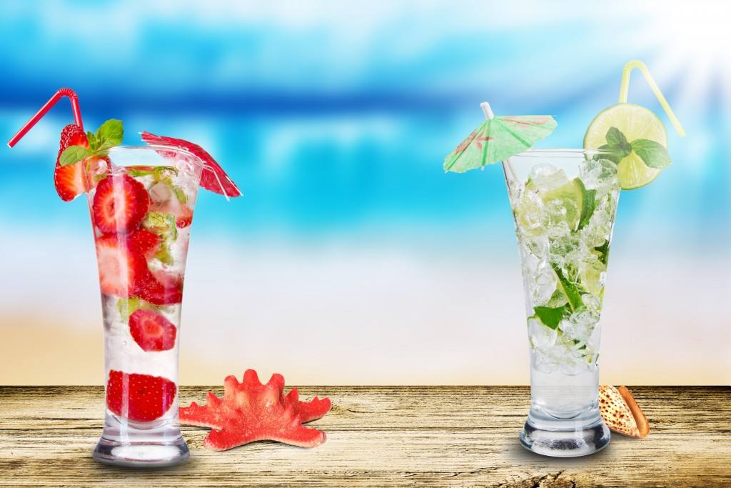 Tropical Cocktail Wallpaper