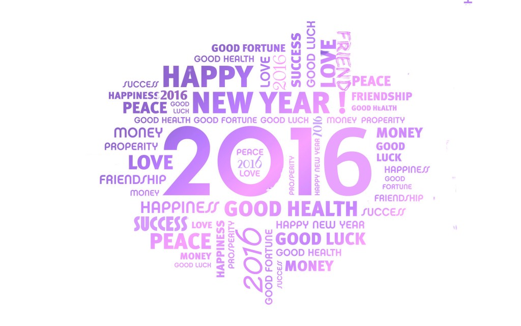 Happy New Year 2016 Widescreen Wallpaper 2880x1800