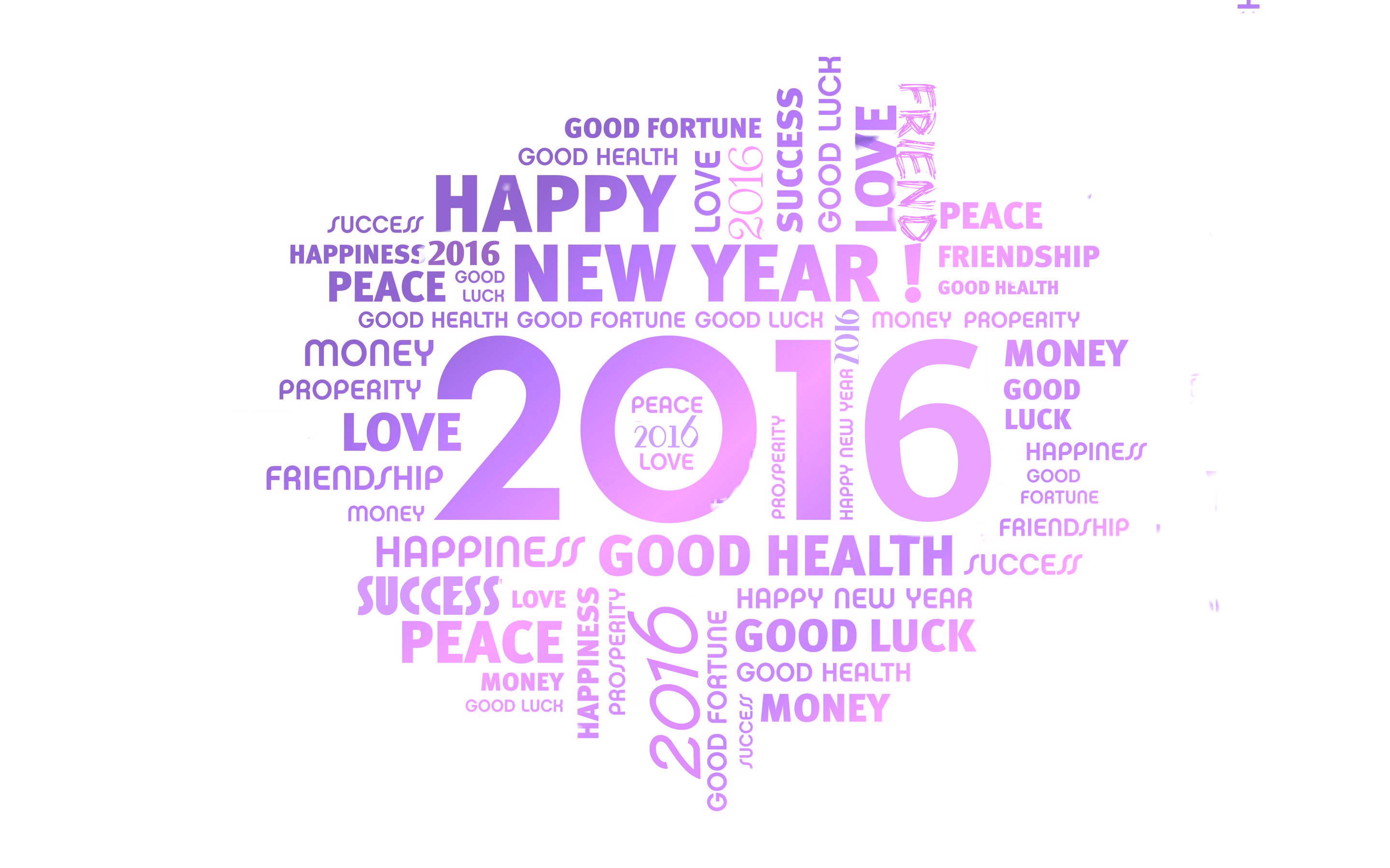 13873 – Happy New Year 2016 Widescreen Wallpaper – 2880×1800
