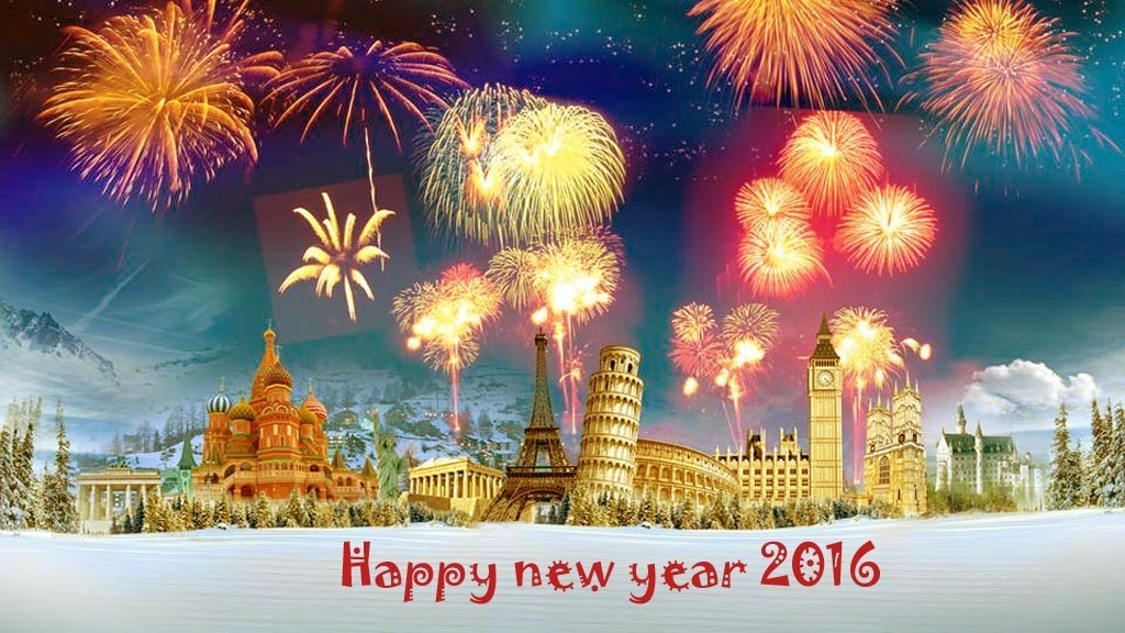 Happy New Year 2016 Wallpaper 1024x576