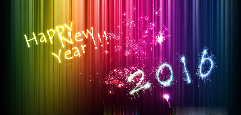 Happy New Year 2016 Wallpaper 1024x491
