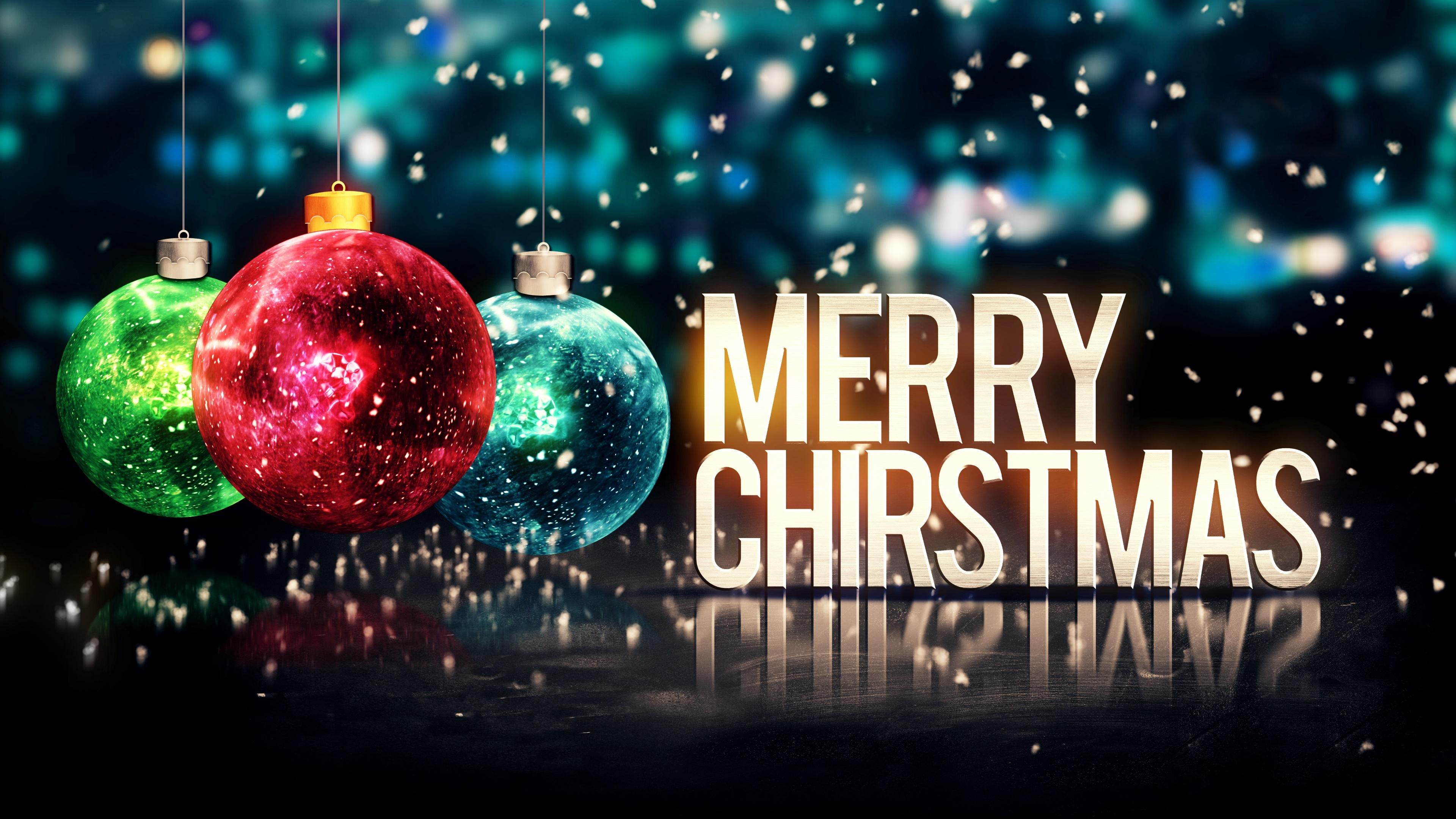 Christmas wallpaper hd for desktop - Merry Christmas 4k Uhd Wallpaper 3840x2160