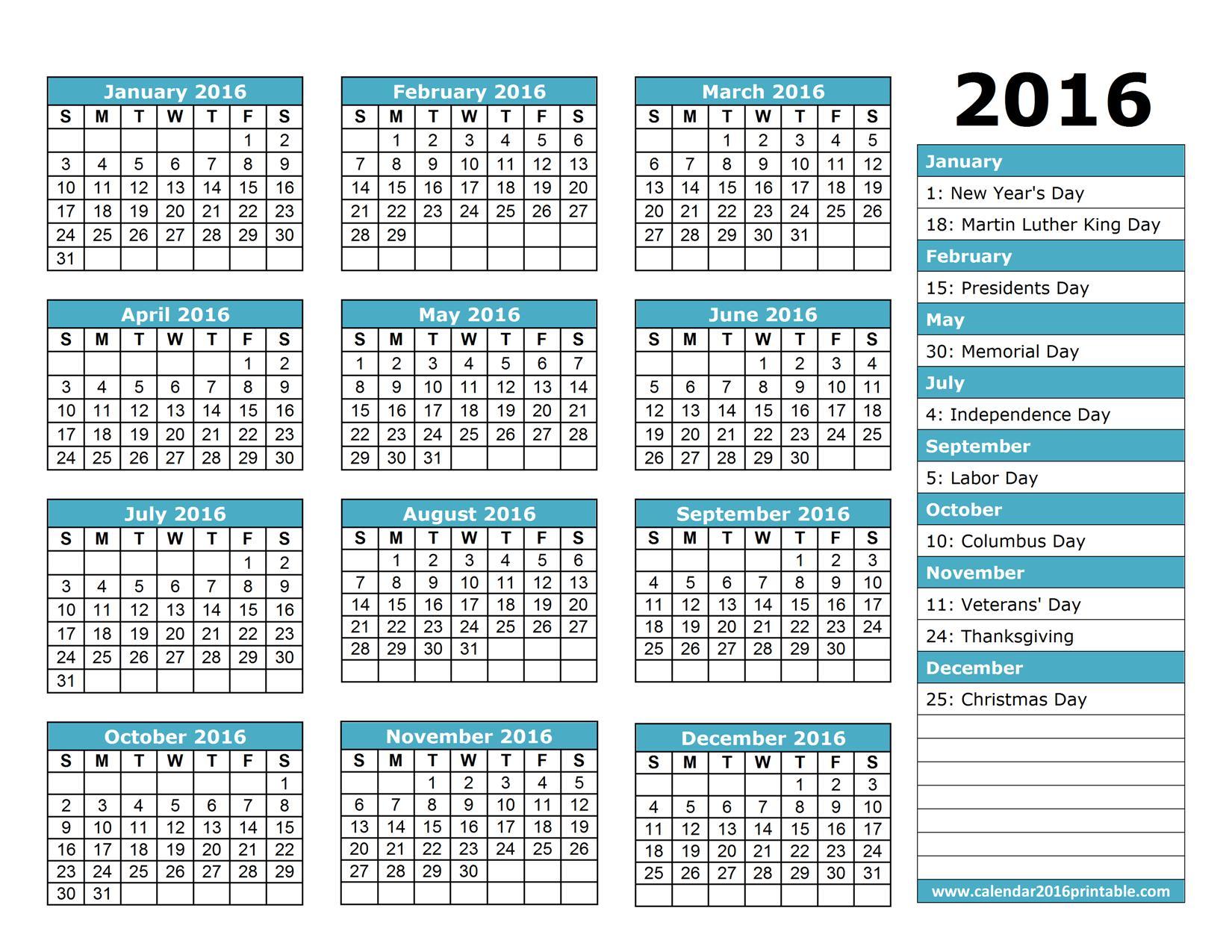 employee calendar template 2015