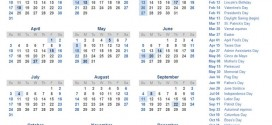 Calendar With Holidays 2016