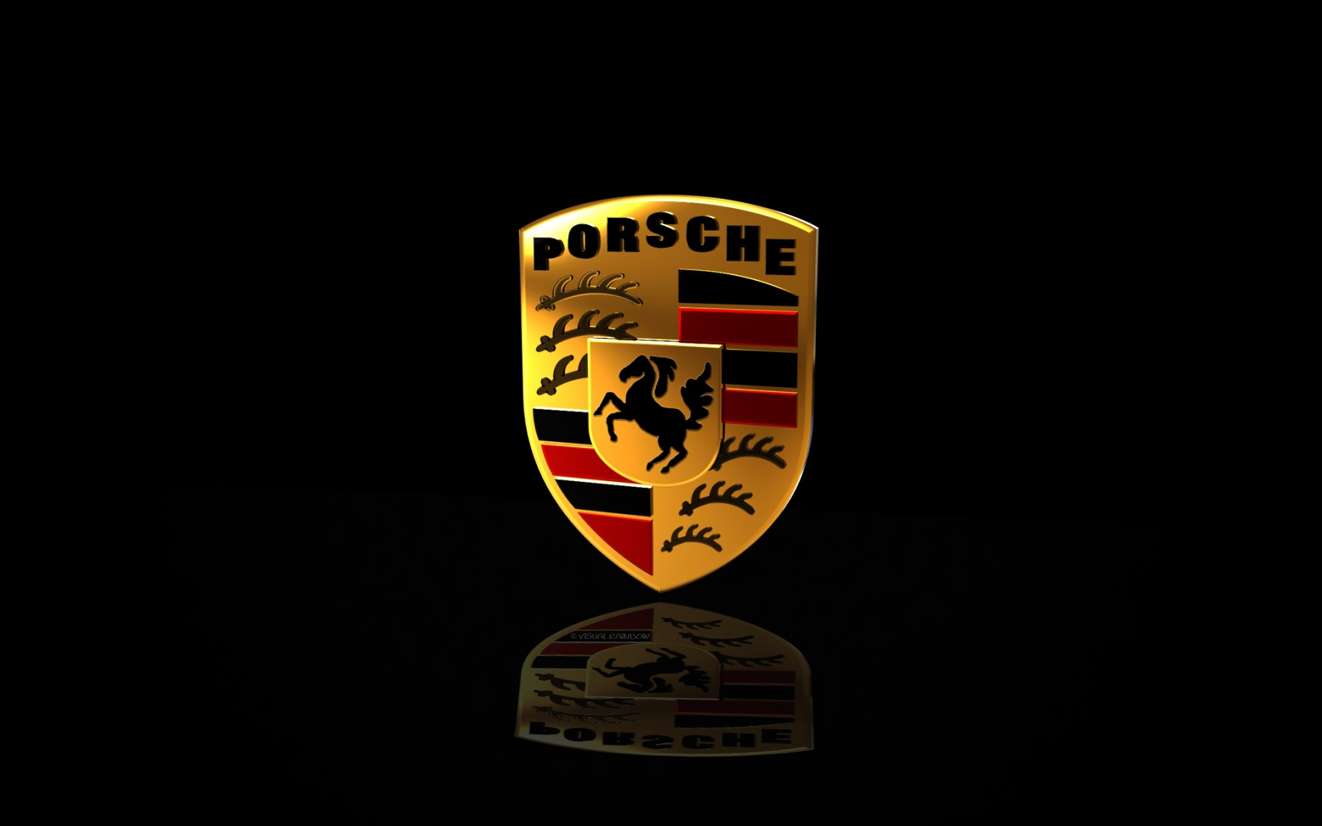 Porsche Logo Widescreen Wallpaper 1920x1200