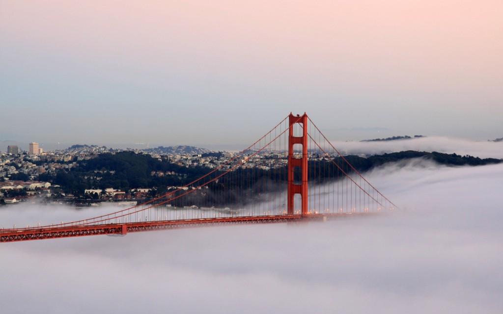 Golden Gate Bridge Fog HD desktop wallpaper Widescreen High