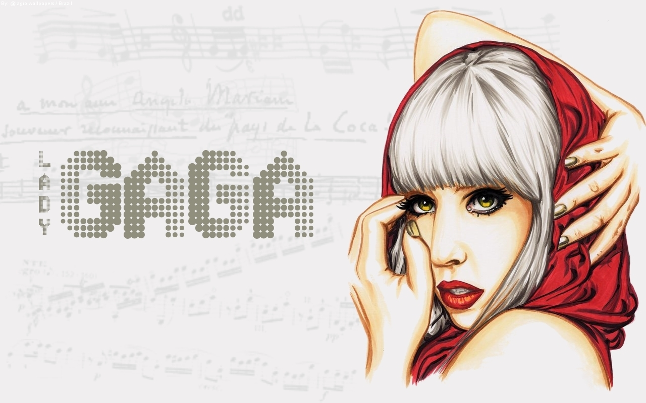Lady Gaga Widescreen Background