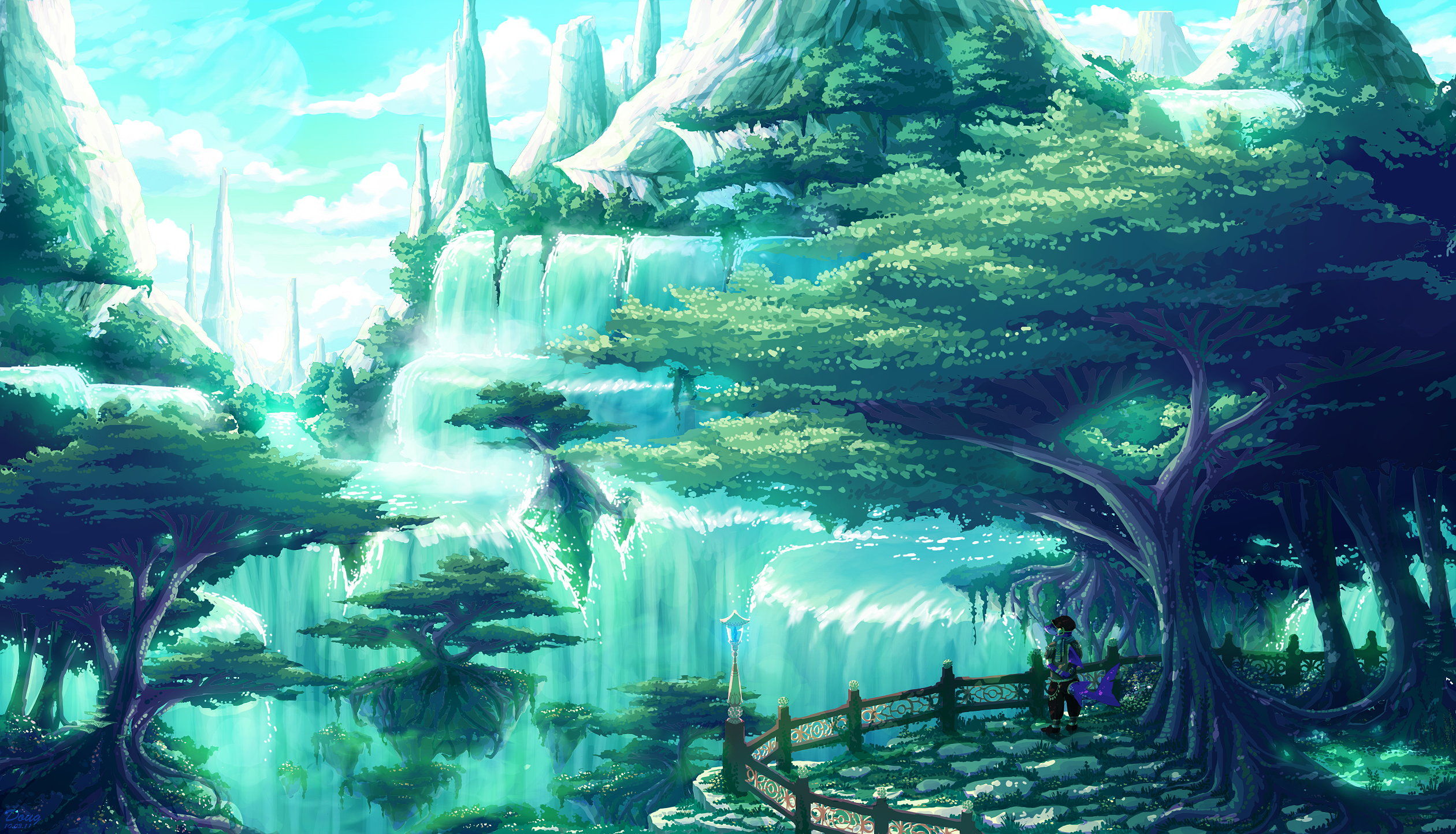 Fantasy landscape hd wallpapers pictures images - Fantasy scenery wallpaper ...