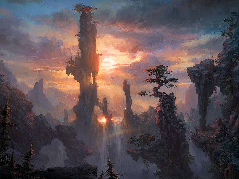 Fantasy landscape hd wallpapers pictures images - Fantasy background ...