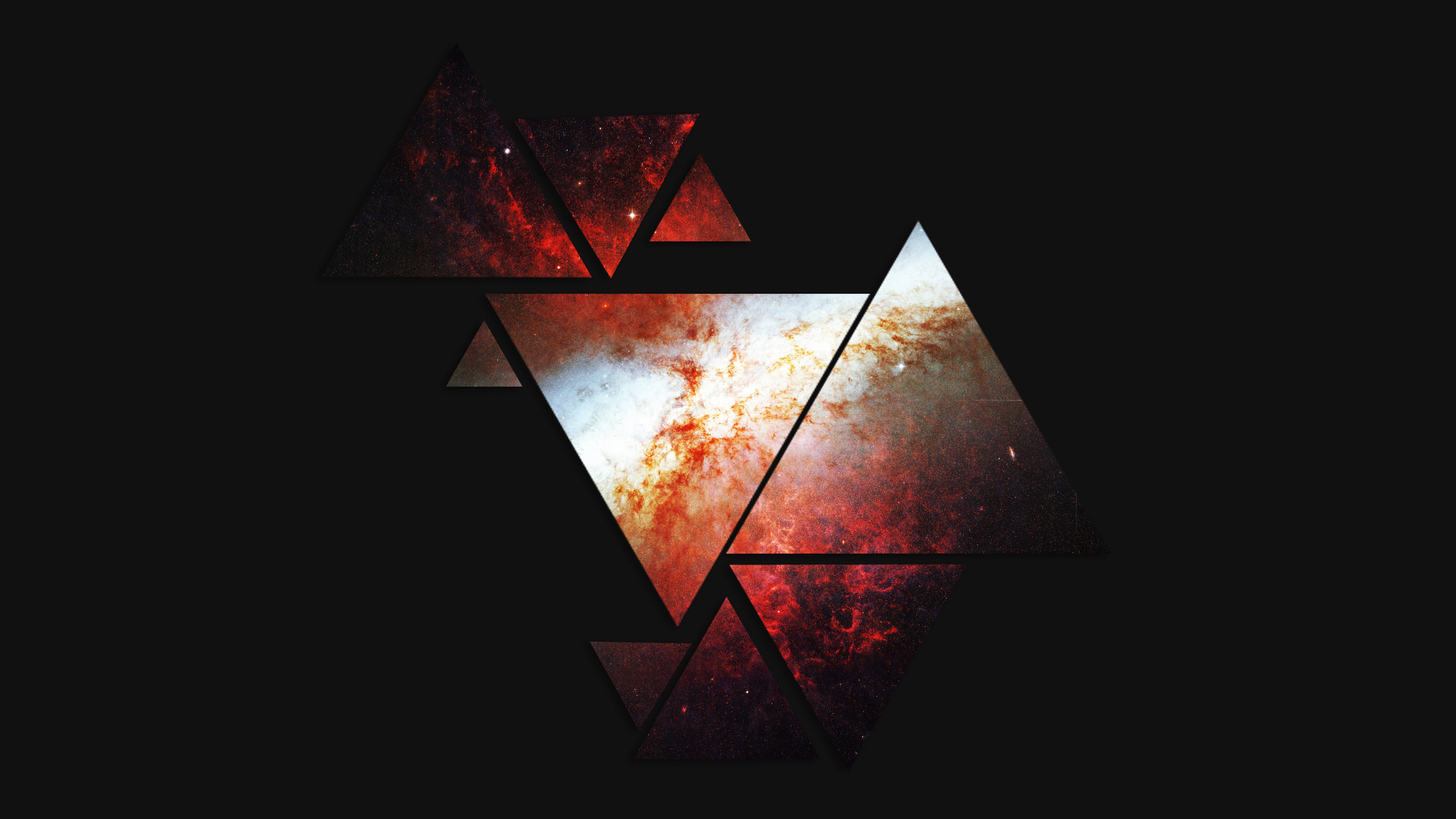 Triangle wallpapers pictures images - Abstract space wallpaper ...