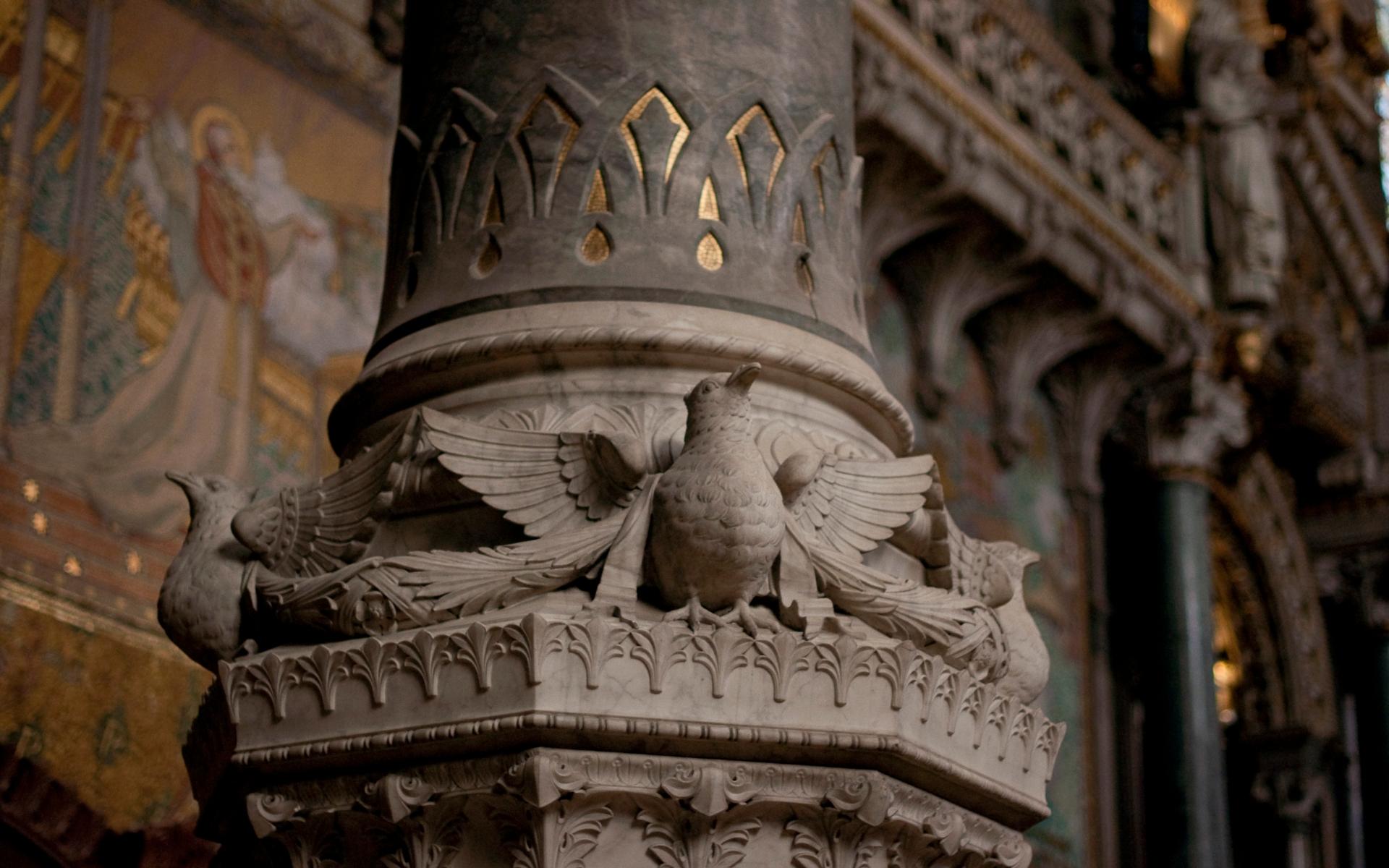 архитектура страны Франция Базилика Нотр-Дам-де-Фурвьер бесплатно