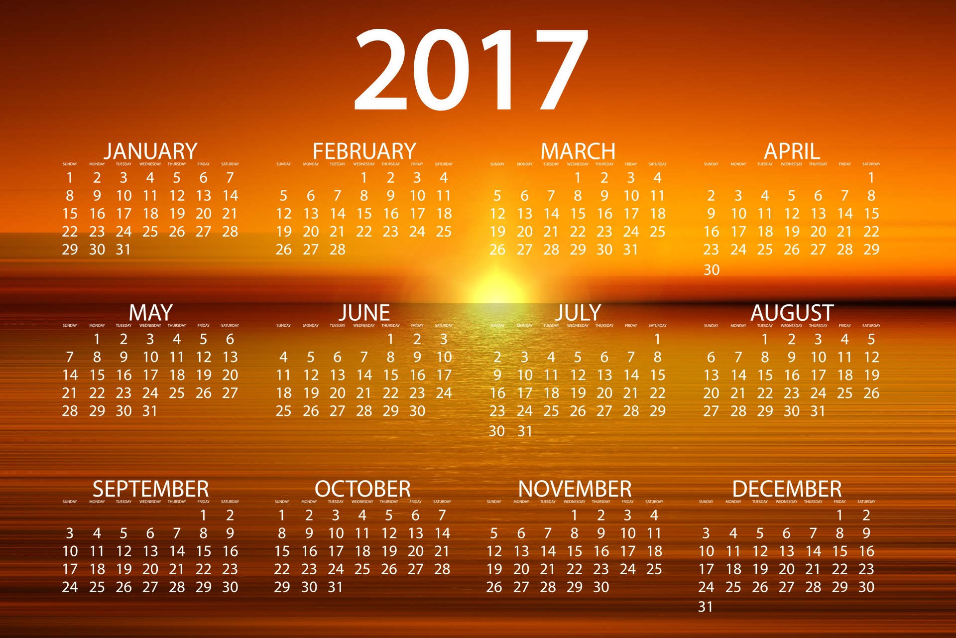 Calendar Wallpaper 2017 : Calendar wallpapers pictures images