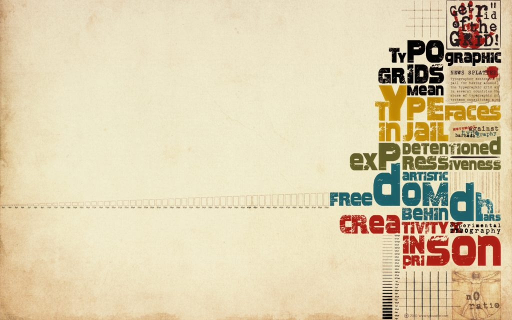Typography Widescreen Wallpaper
