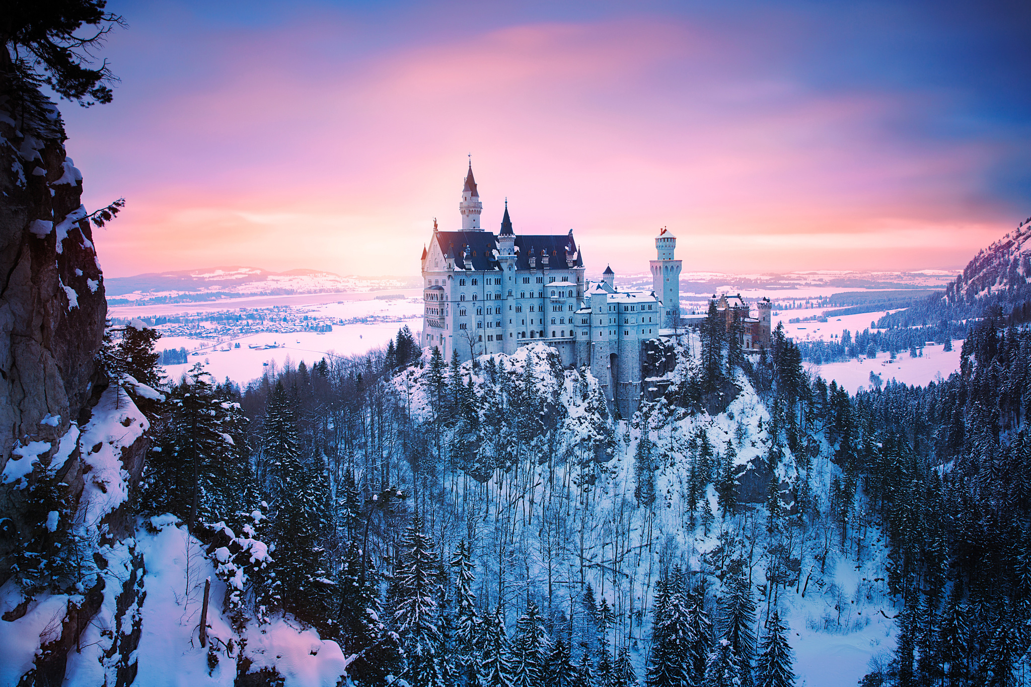 Замок швейцария вечер  № 2569426 без смс