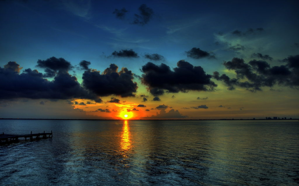 Sunset Widescreen Background