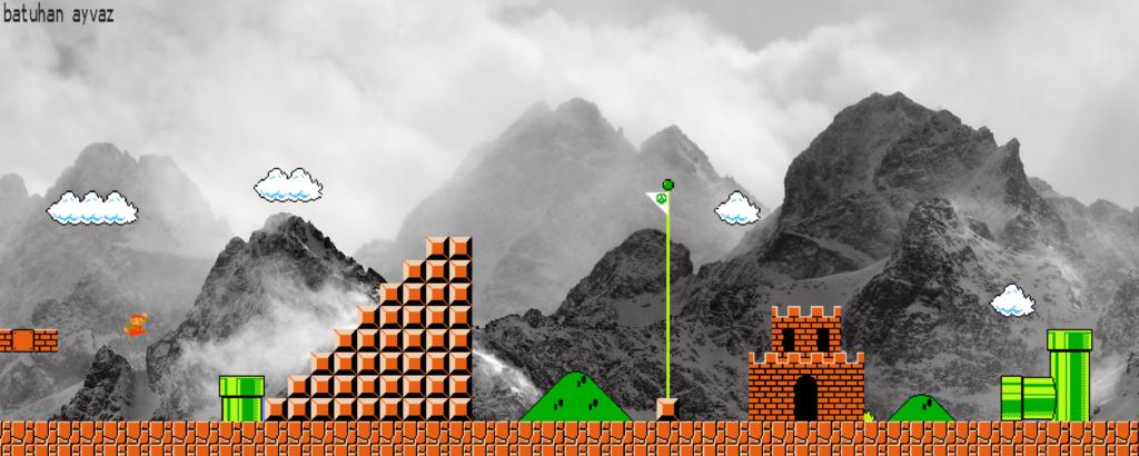 Super Mario Bros. Dual Monitor Wallpaper 2560x1024