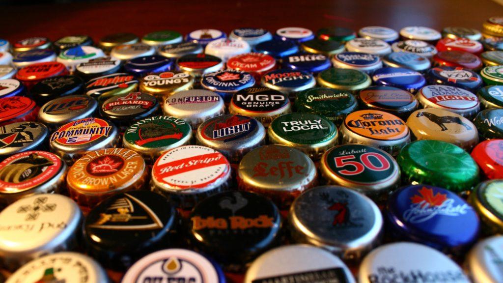 Beer Bottle Caps Background