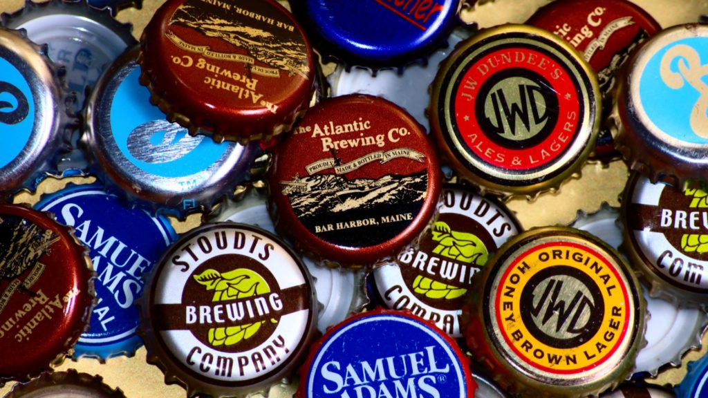 Beer Bottle Caps Full HD Wallpaper