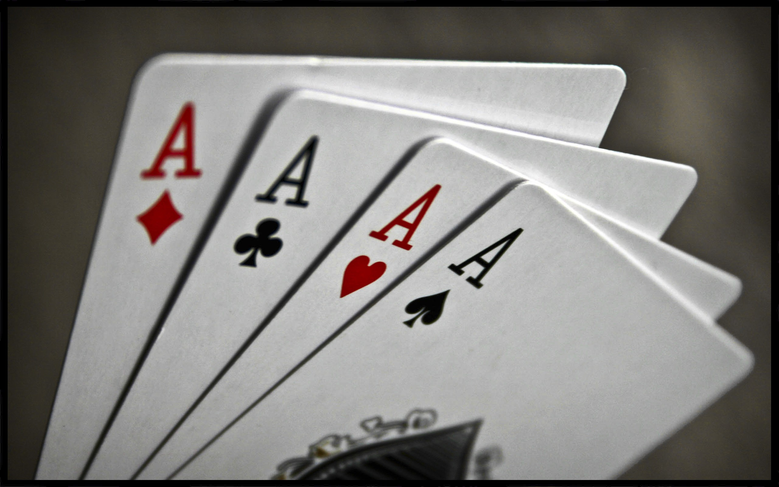 Ace of Hearts on Top of All the Cards widescreen wallpaper Wide