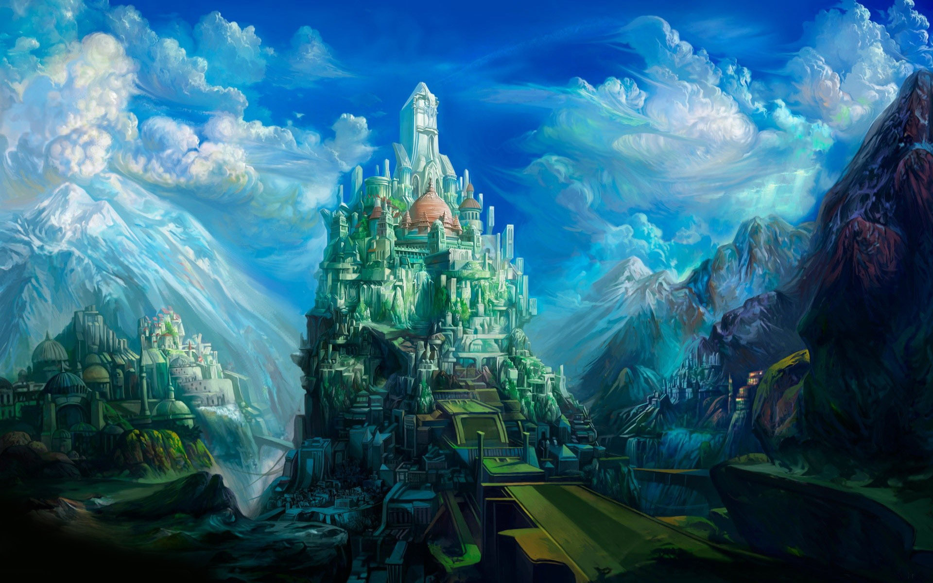 backgrounds for blue castle backgrounds | www.8backgrounds
