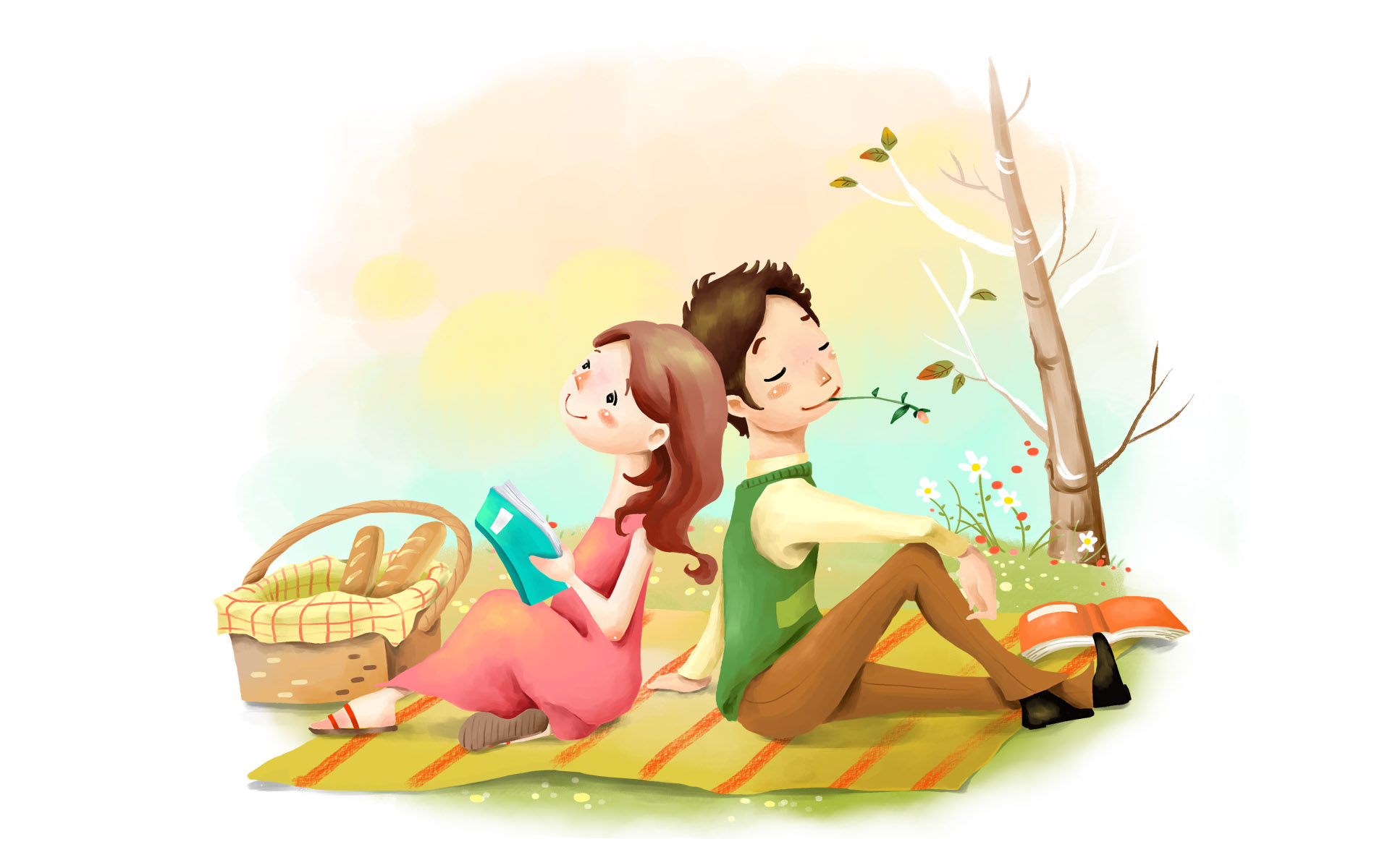 девушка с книжкой на лужайке без смс