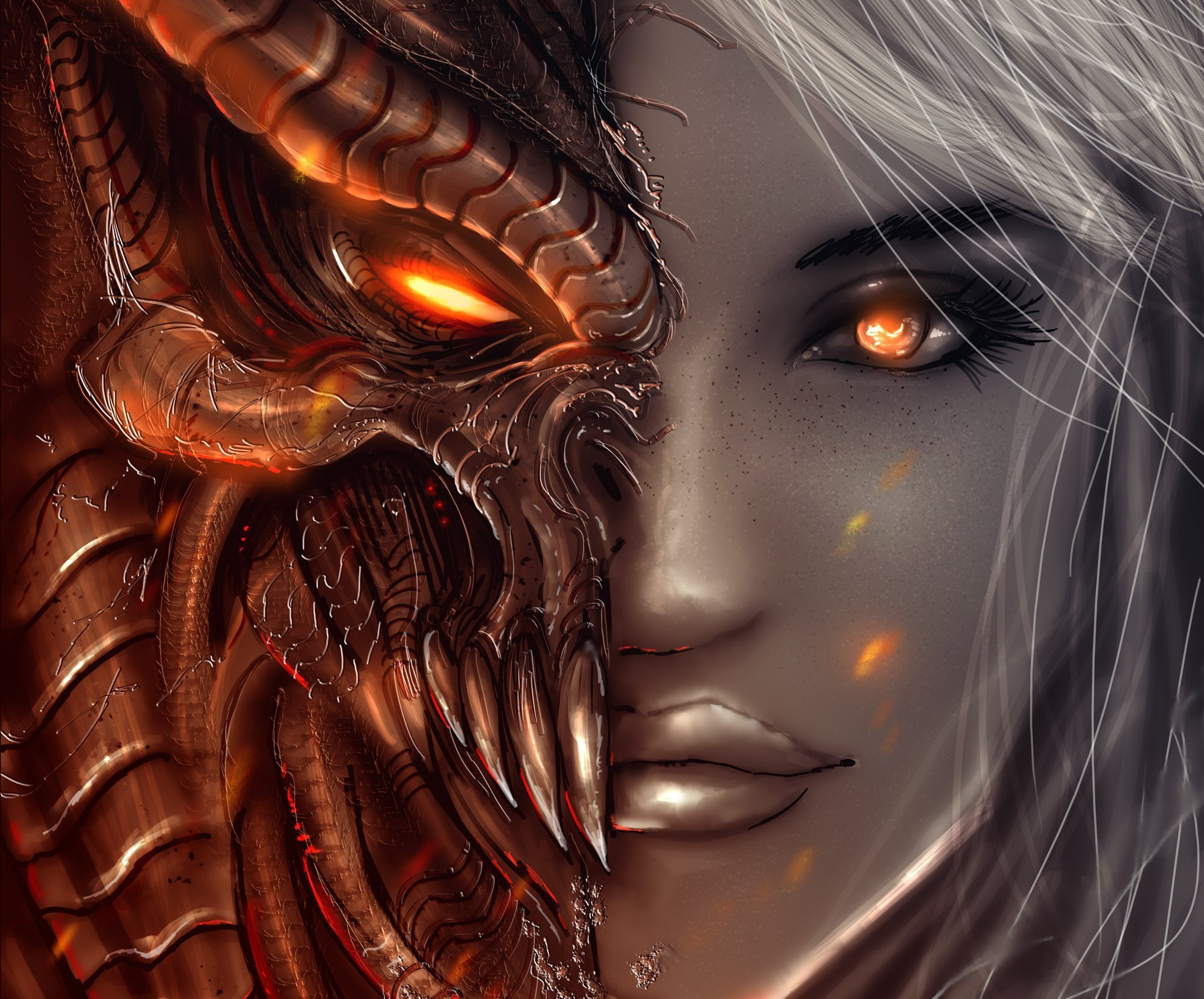Demon hd wallpapers pictures images - Anime face wallpaper ...
