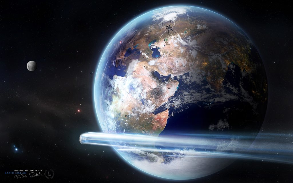 From Space Widescreen Wallpaper