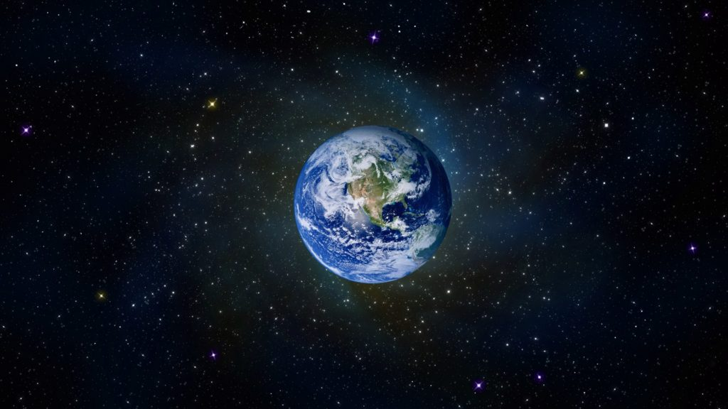 From Space Full HD Wallpaper