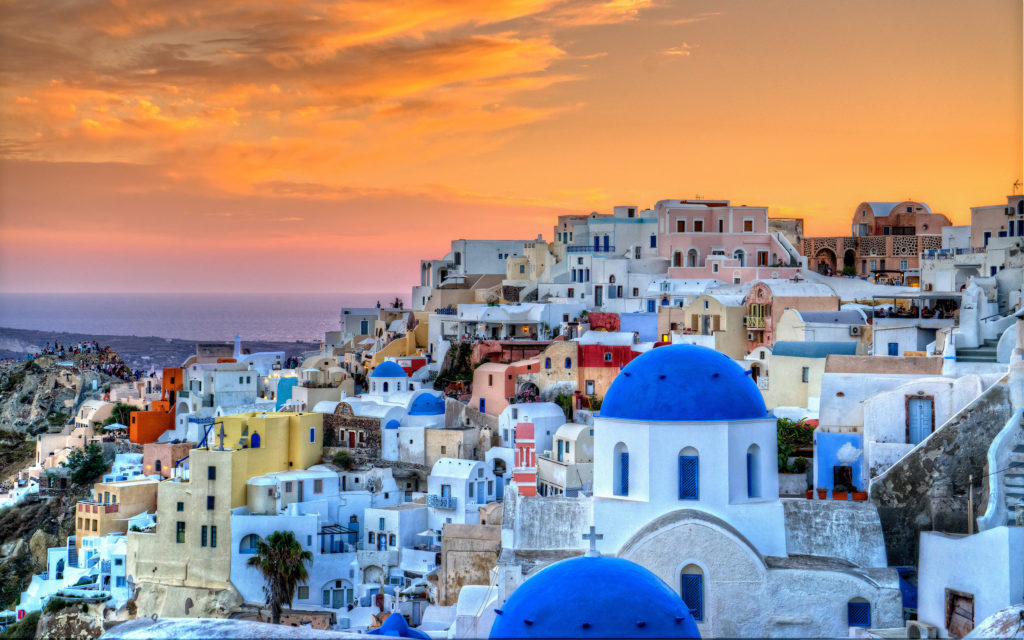 Santorini Widescreen Wallpaper