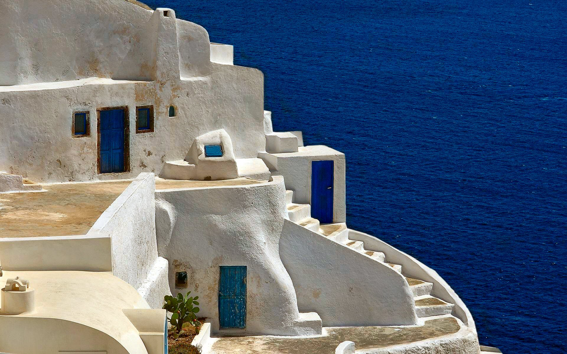 Nature greece wallpapers hd desktop and mobile backgrounds - Santorini Widescreen Wallpaper