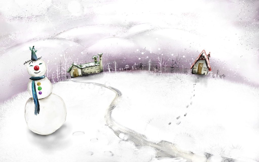 Snowman Widescreen Wallpaper