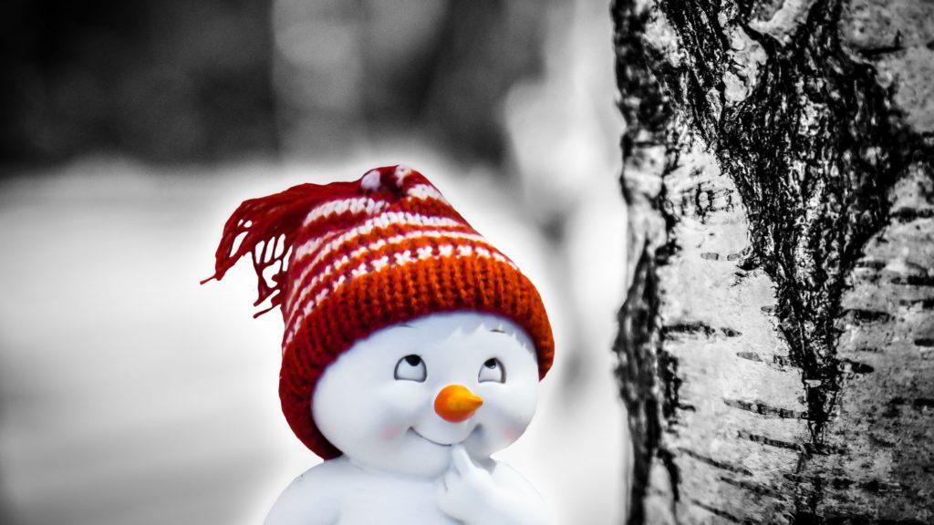 Snowman 4K UHD Wallpaper