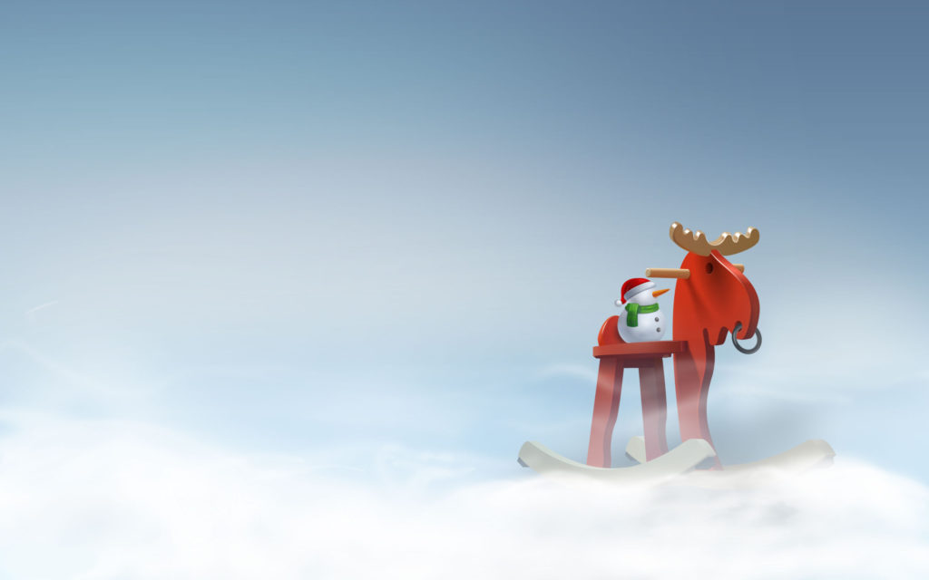 Snowman Widescreen Wallpaper