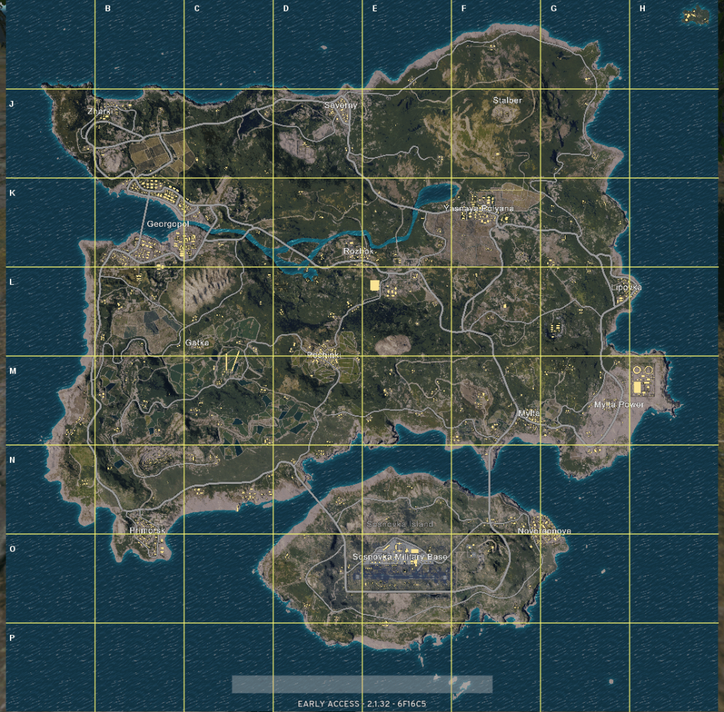 PLAYERUNKNOWN'S BATTLEGROUNDS Maps & Loot Maps 1097x1080