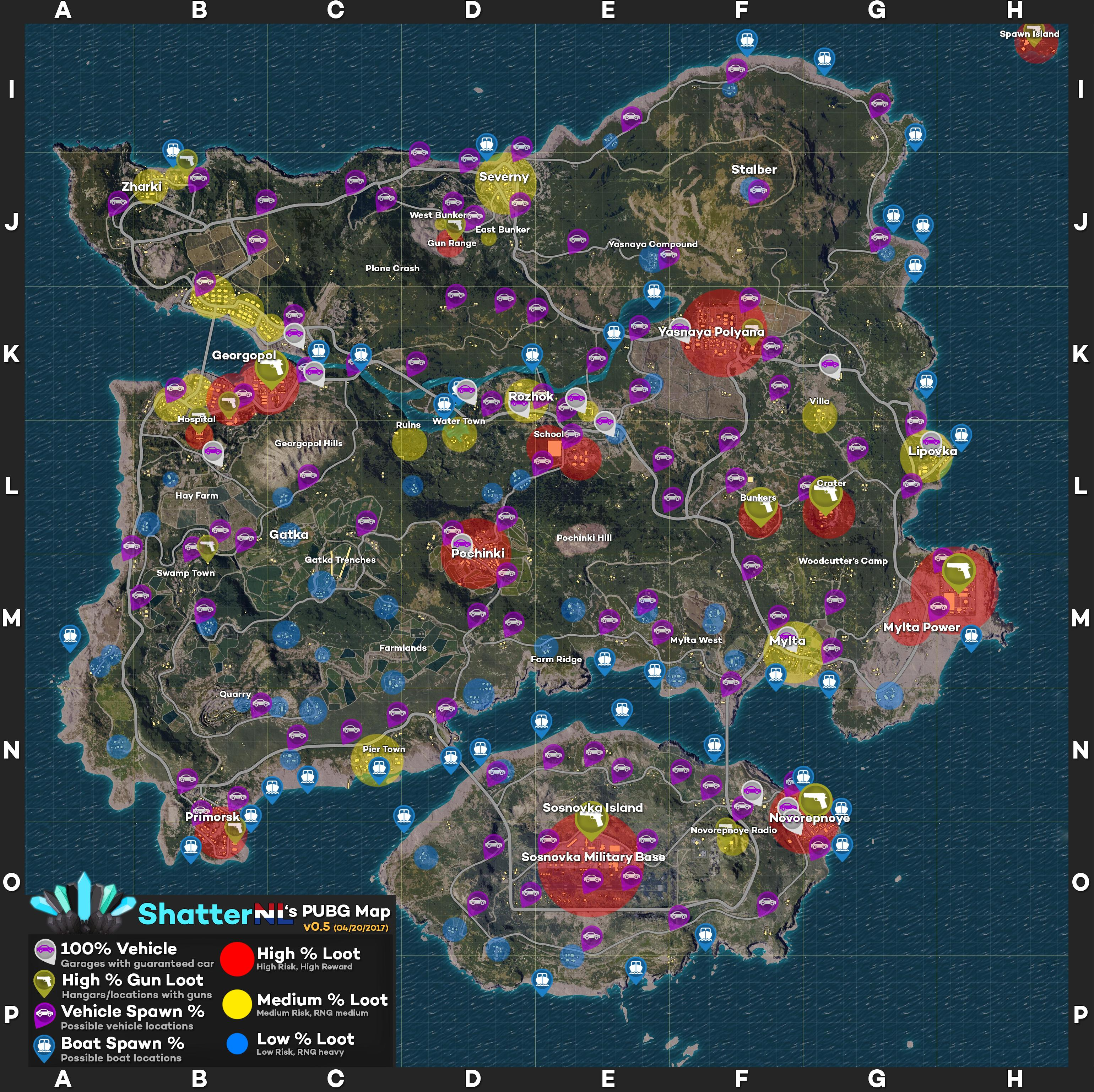PLAYERUNKNOWN'S BATTLEGROUNDS Maps & Loot Maps, Pictures