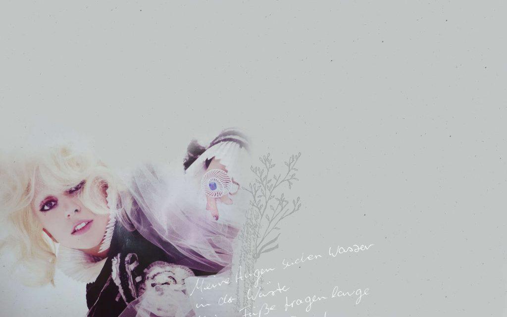 Lady Gaga Widescreen Wallpaper