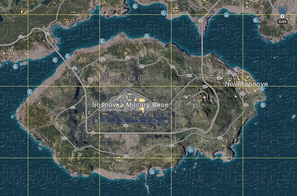 PLAYERUNKNOWN'S BATTLEGROUNDS Maps & Loot Maps 1062x700